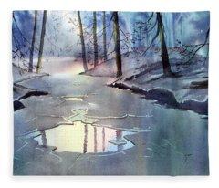 Breaking Ice Fleece Blanket