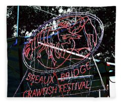 Breaux Bridge Crawfish Festival Fleece Blanket