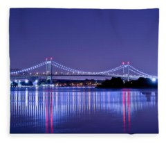 Tri-borough Bridge In Nyc Fleece Blanket