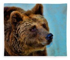 Brown Bear 203 Fleece Blanket