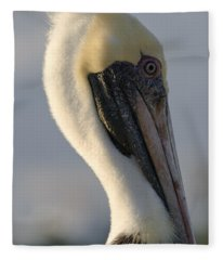 Brown Pelican Profile Fleece Blanket