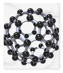 Buckminsterfullerene Or Buckyball C60 18 Fleece Blanket