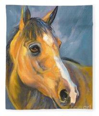 Buckskin Sport Horse Fleece Blanket