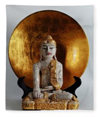 Buddha Girl Fleece Blanket