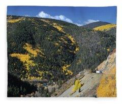 Butterfly On Bobcat Pass Fleece Blanket