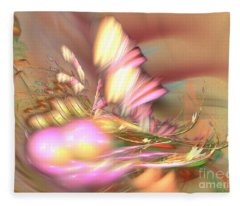 By The Field - Abstract Art Fleece Blanket