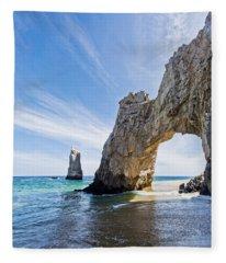 Cabo San Lucas Arch Fleece Blanket
