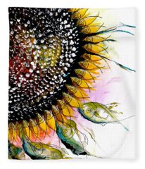 California Sunflower Fleece Blanket