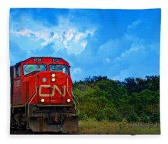 Canadian Northern Railway Train Fleece Blanket