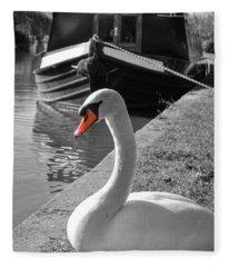Canal Swan Fleece Blanket