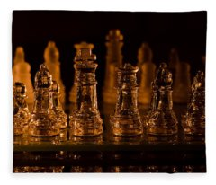 Candle Lit Chess Men Fleece Blanket