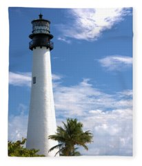 Cape Florida Lighthouse Fleece Blanket