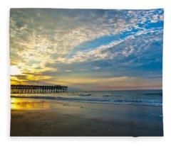 Carolina Sunrise Fleece Blanket