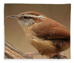 Carolina Wren Fleece Blanket