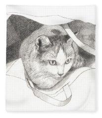 Cat In A Bag Fleece Blanket