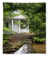 Chapel At Hickory Run State Park Fleece Blanket
