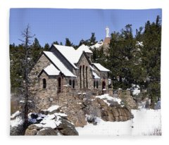 Chapel On The Rocks No. 3 Fleece Blanket