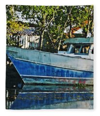 Chauvin La Blue Bayou Boat Fleece Blanket
