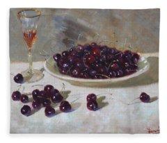 Cherries Fleece Blanket