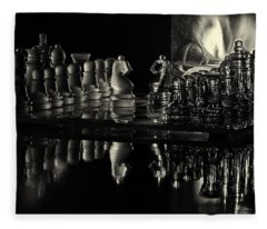 Chess By Candlelight Fleece Blanket