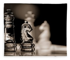 Chess King And Knight Fleece Blanket