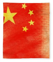 China Flag Fleece Blanket
