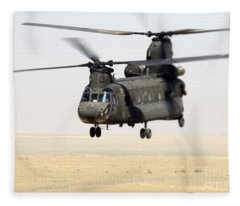 Chinook Cargo Helicopter Fleece Blanket