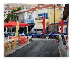 Chios Greece 2 Fleece Blanket