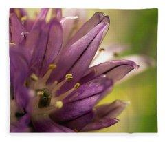 When  Chives  Blossom Fleece Blanket