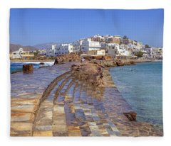 Chora Naxos Fleece Blanket