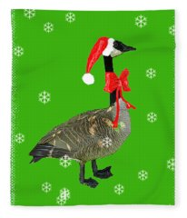 Christmas Goose Fleece Blanket