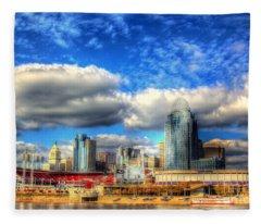 Cincinnati Skyline 2012 - 2 Fleece Blanket