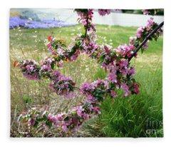 Circle Of Blossoms Fleece Blanket