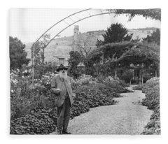 Claude Monet, French Impressionist Fleece Blanket