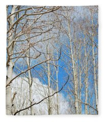 Cloudy Aspen Sky Fleece Blanket