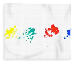 Color Splash Fleece Blanket