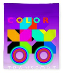 Color Wheels Fleece Blanket