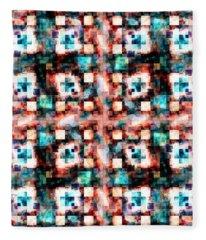 Colorful Abstract Mosaic Fleece Blanket