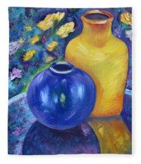 Colorful Jars Fleece Blanket