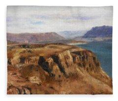 Columbia River Gorge I Fleece Blanket