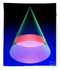 Conic Section Circle 6 Fleece Blanket