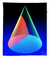 Conic Section Hyperbola 6 Fleece Blanket