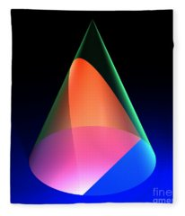 Conic Section Parabola 6 Fleece Blanket