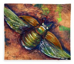 Copper Beetle Fleece Blanket