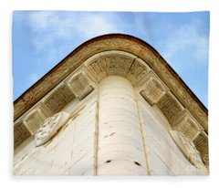 Corner Building Fleece Blanket
