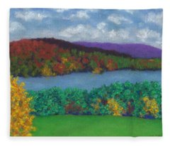 Crisp Kripalu Morning Fleece Blanket