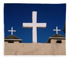 Crosses Of San Francisco De Asis Fleece Blanket