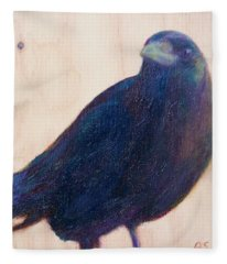 Crow Friend Fleece Blanket