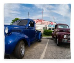 Cruise Night At The Diner Fleece Blanket