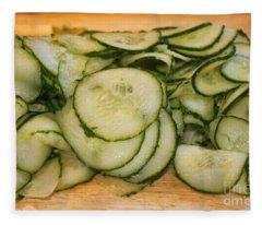 Cucumbers Fleece Blanket